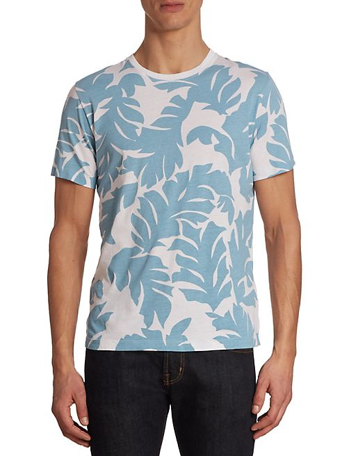 Diesel - Diego Palm Print Perforated Tee